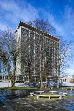 Plymouth's modernist civic centre, 1962, by Jellicoe, Ballantyne and Coleridge.