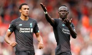 Sadio Mane aus Liverpool feiert seinen Treffer.