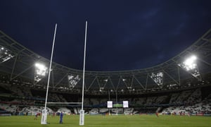 Rugby pitch at London's Olympic stadium
