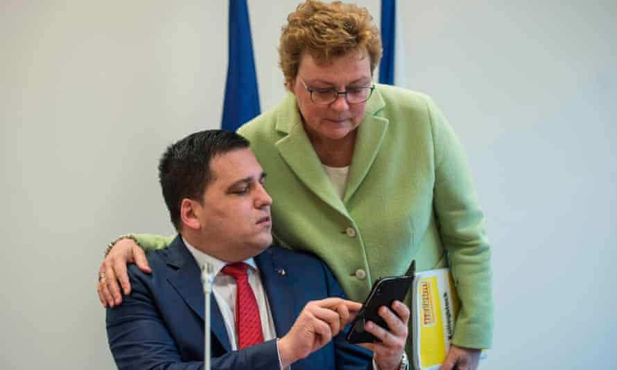 Monika Hohlmeier with fellow MEP Tomáš Zdechovský in Prague