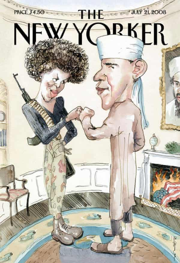 New Yorker's cover of July 2008