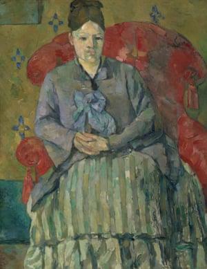 Madame Cézanne by Paul Cézanne.