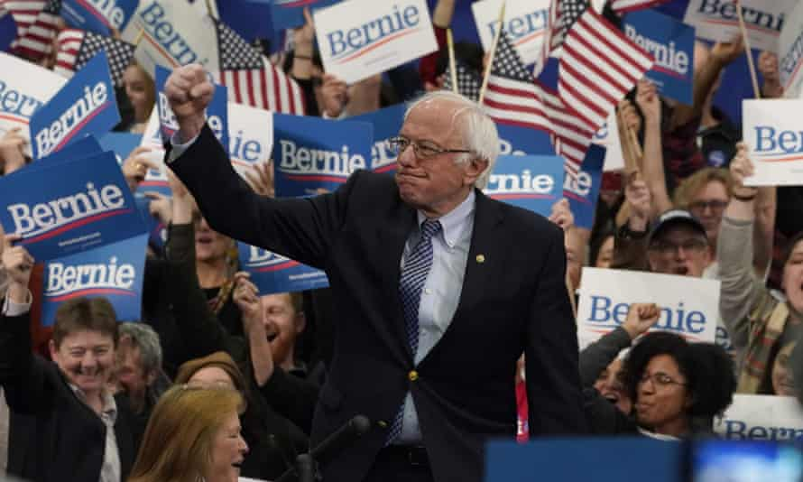 Bernie Sanders campaigns during the New Hampshire primary