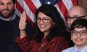 Rahida Tlaib is sworn in in Washington.