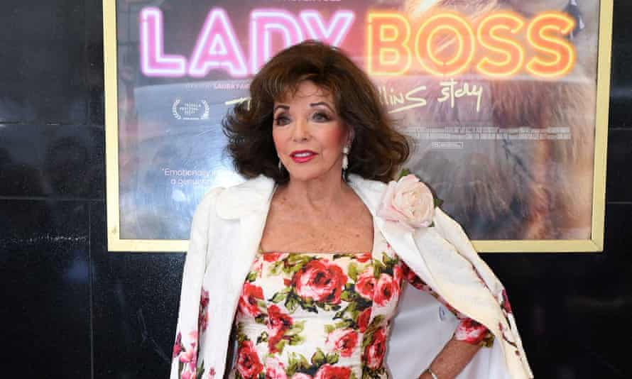 Joan Collins at theLondon premiere of Lady Boss on 1 July.