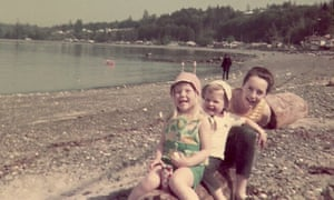 Pauline, Ted and Ruth at the beach on Vancouver Island in1968.