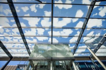 Blue sky thinking … the cloud artwork at Paddington station.