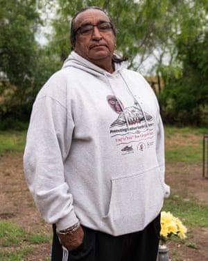 Juan Mancias, chairman of the Carrizo/Comecrudo Tribe of Texas.