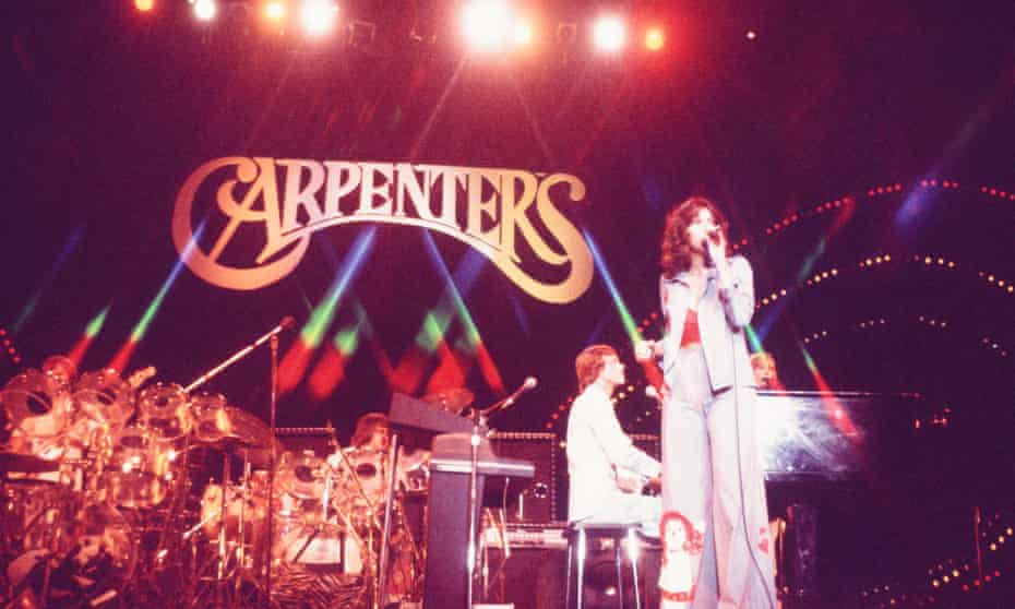 The Carpenters perform in Japan, 1974.