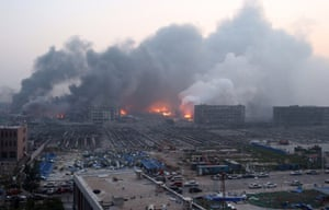 A large fire continues to rage
