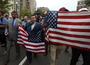 Jason Kessler with far-right supporters in Washington DC