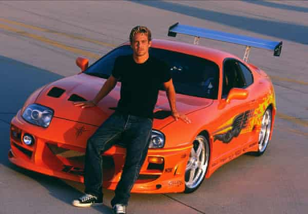 Paul Walker as Brian O'Conner in the original, The Fast and the Furious.