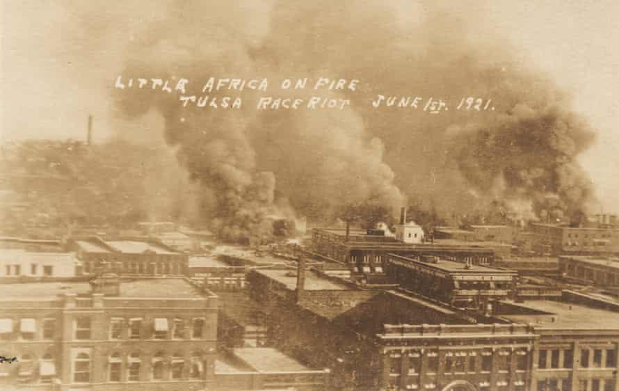 Little Africa on fire, Tulsa Race Riot, June 1, 1921