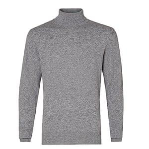 grey polo neck