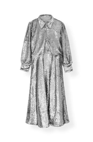 Collared maxi dress, £490, by Ganni