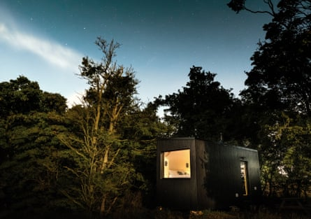 Unplugged exterior among trees