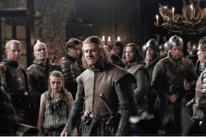 First blood … Williams with Sean Bean in the opening season of Game of Thrones.