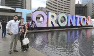 Khaled Almilaji and his wife Jehan in Toronto where he is now studying at university.
