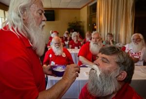 Beard bleaching, Santa Celebration, Tampa, Florida 2014