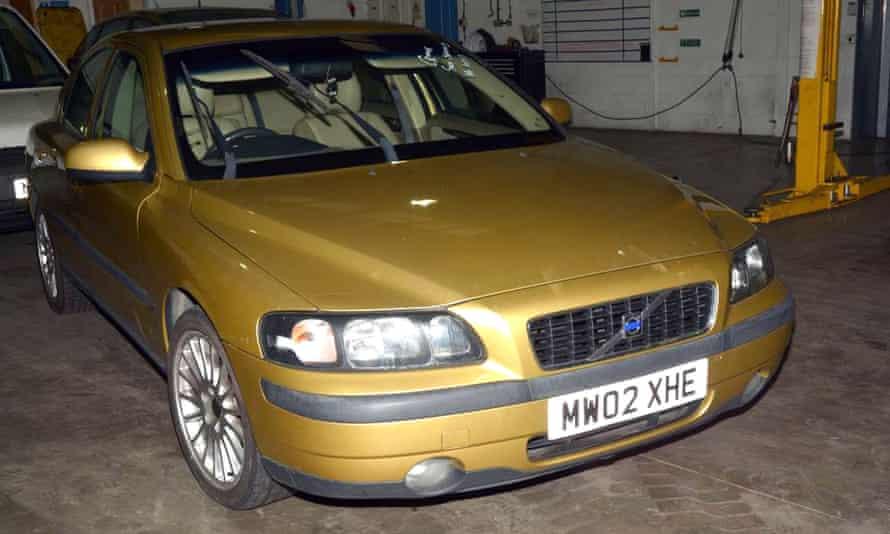 The gold-coloured Volvo used in the prison escape