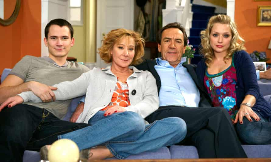 With Gabriel Thomson, Robert Lindsay and Daniella Denby-Ashe in My Family, 2010.
