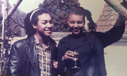 'I never looked back' … Adjoa Andoh with her brother, Yeofi Andoh, on the day she arrived in London.