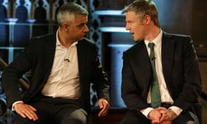 Labour candidate Sadiq Khan (left) and Conservative candidate Zac Goldsmith.