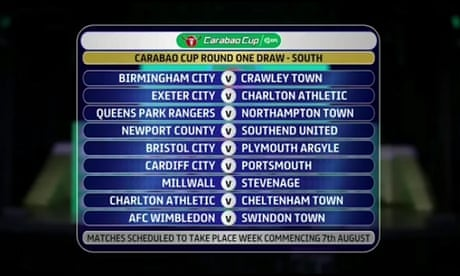 Carabao Cup first-round draw descends into farce as Charlton get two opponents