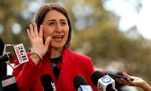 The New South Wales premier, Gladys Berejiklian