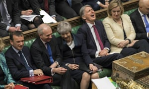 Laughter during prime minister's questions in the House of Commons
