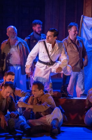 Tenor Leonardo Capalbo, centre, and chorus in Massenet's Le Cid at Dorset Opera.