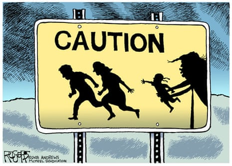 Rogers' cartoon on the Trump administration immigration policy.