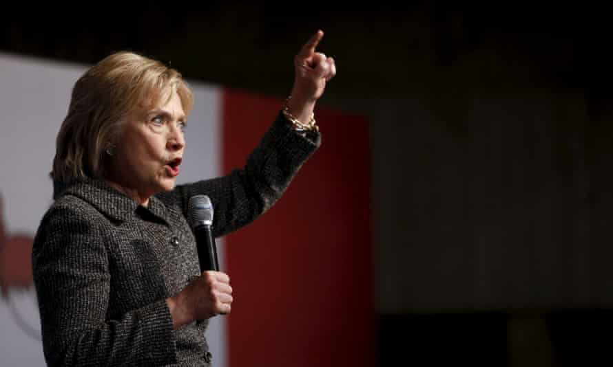Hillary Clinton speaks during a campaign rally at Iowa State University in Ames, Iowa, on Tuesday.
