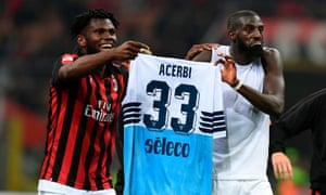 Milan's midfielders Franck Kessié and Tiémoué Bakayoko may be disciplined for displaying Francesco Acerbi's shirt at the final whistle.