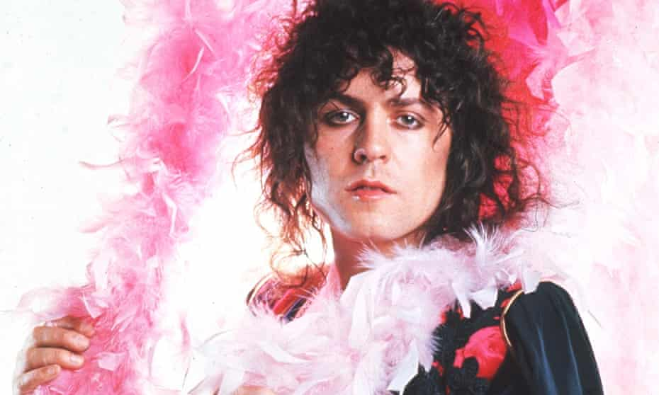 'I drive a Rolls-Royce / 'Cos it's good for my voice' ... Marc Bolan in 1973.
