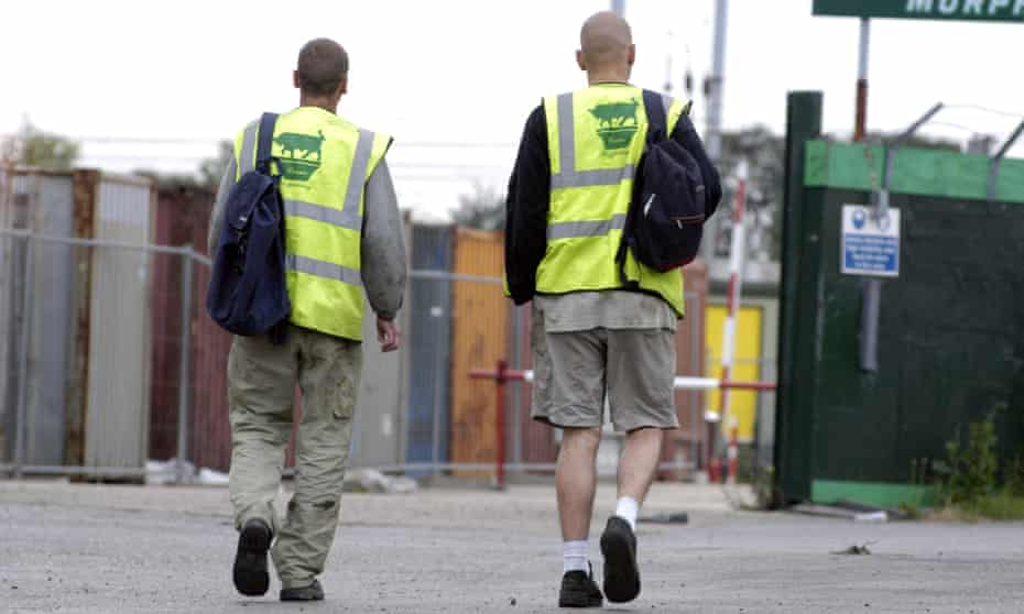 Two men with bags