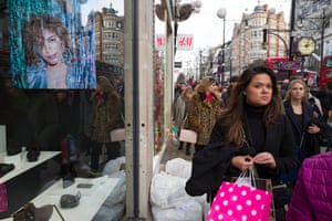 Despite the crowds, UK high street spending in the run-up to Christmas increased at the slowest rate since 2012