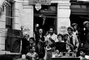 Carnival crowds in Notting Hill, 1979.