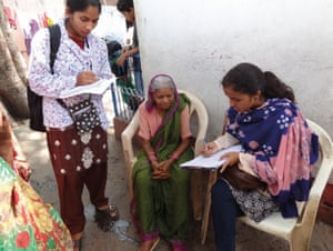 Collecting data in Bhopal