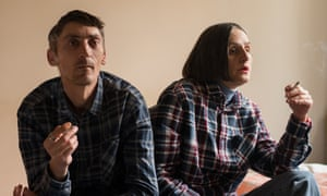 ◀ Both Drazenko Tevelli, left, and Branka Reljan spent many years in mental health institutions. Now they live together in a flat: 'I love to make apple pies,' says Reljan.