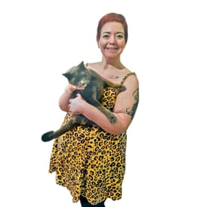 'He's so naughty': Gina Burnside and her rescue cat, Hector.