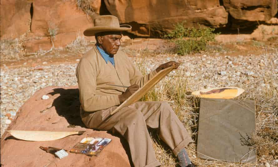 Albert Namatjira paints