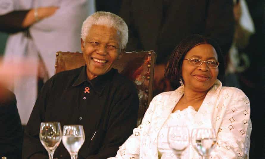 Graça Machel, pictured with Nelson Mandela in 2003