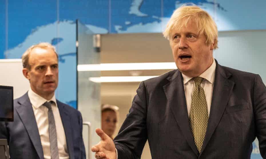 Foreign secretary Dominic Raab and prime minister Boris Johnson