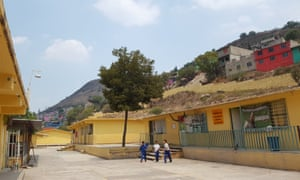 Children waiting for the afternoon bell at the Albino Corzo primary school in Mexico.