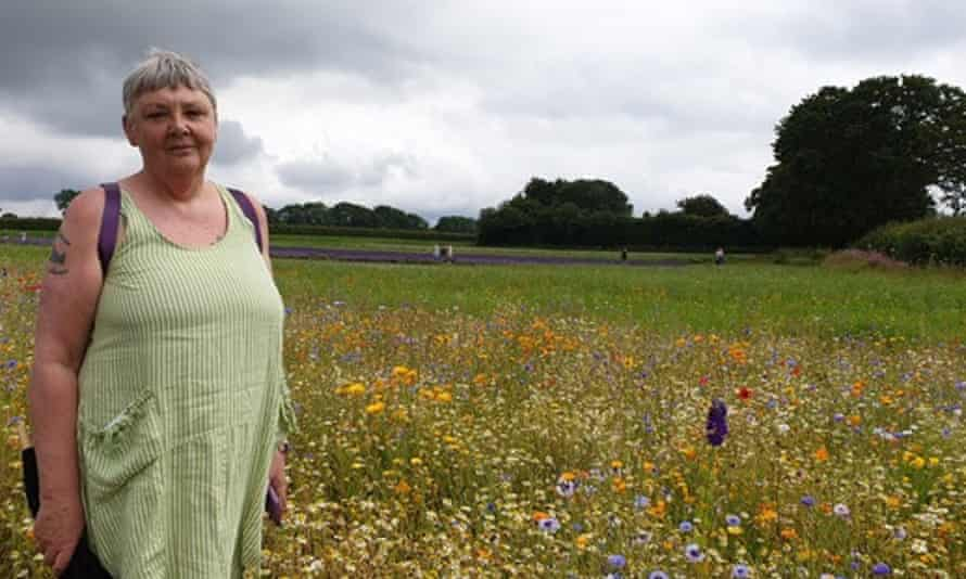 Donna Wallace in a meadow