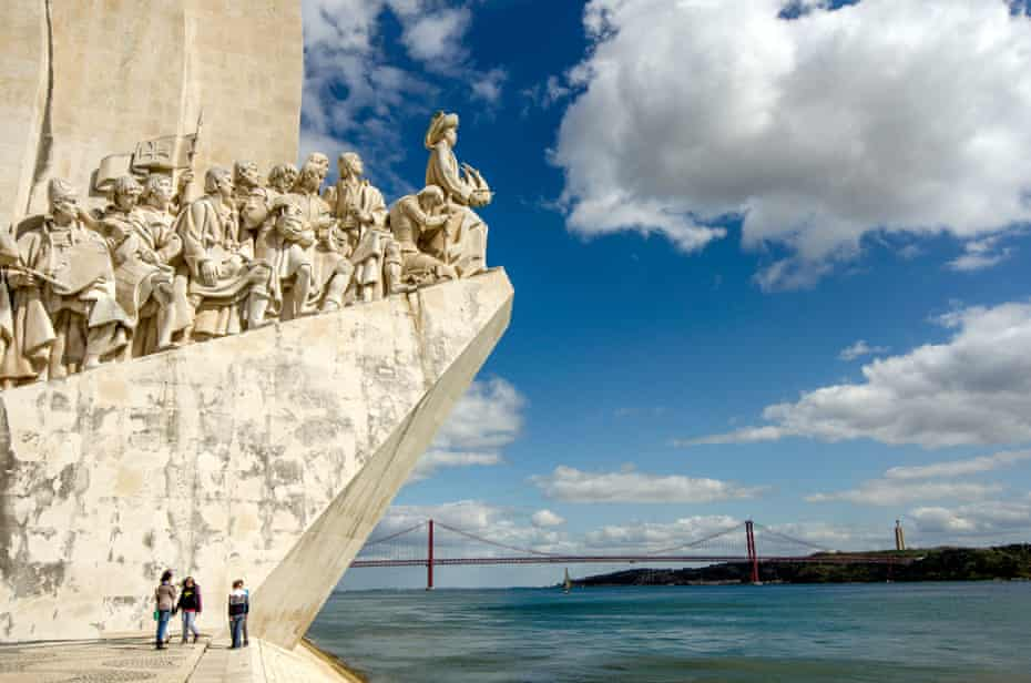 The Monument to the Discoveries in Lisbon, Portugal.
