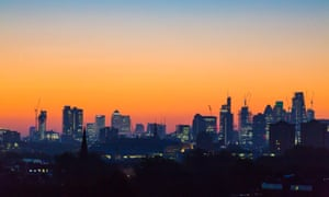 Sunrise in London from Primrose Hill