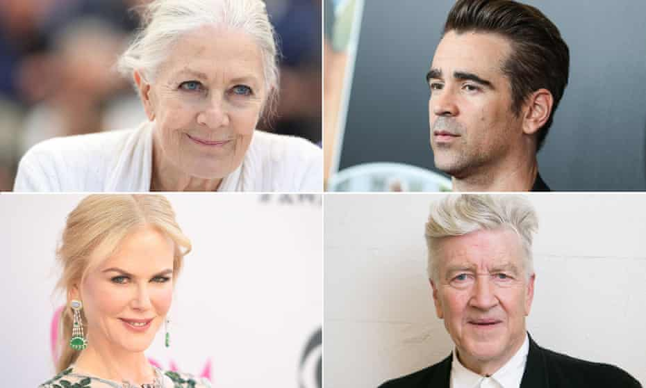 Cannes-bound: (clockwise from top left) Vanessa Redgrave, Colin Farrell, David Lynch and Nicole Kidman