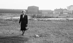 Margaret Thatcher in Middlesbrough in 1987.